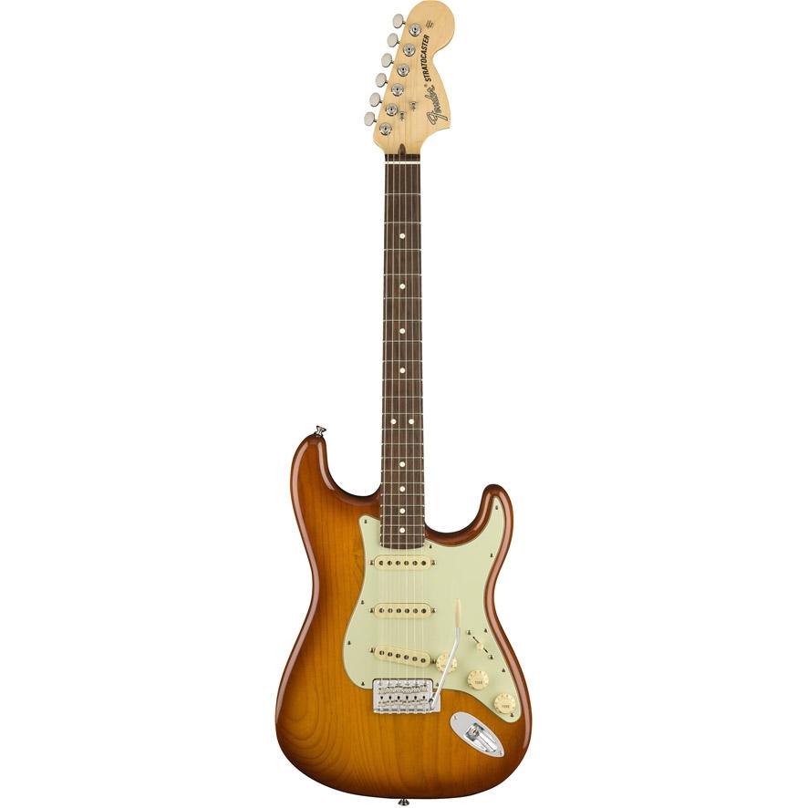 Image of   Fender American Performer Stratocaster, RW, HBST el-guitar honey burst