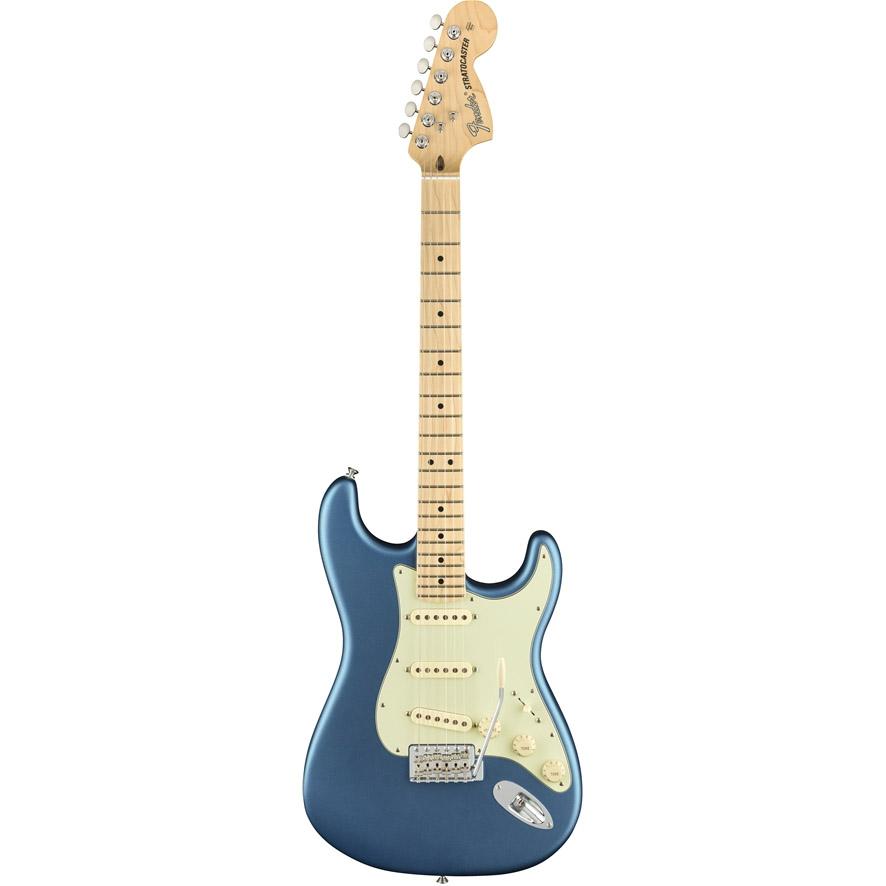 Fender American Performer Stratocaster, MN, Satin LBP el-guitar lake placid blue