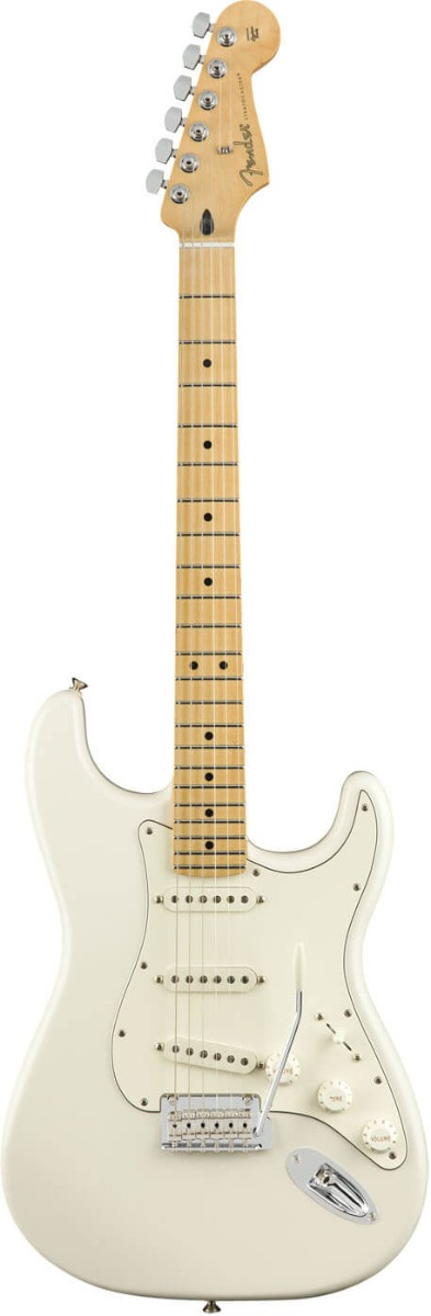 Fender Player Stratocaster, MN, PWT el-guitar polar white