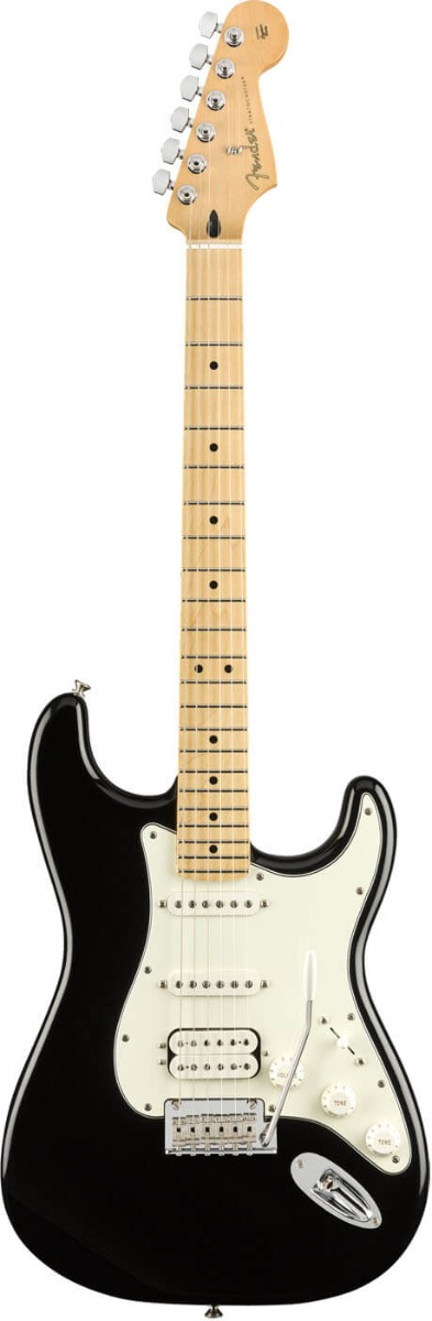 Image of   Fender Player Stratocaster HHS, MN, BLK el-guitar sort
