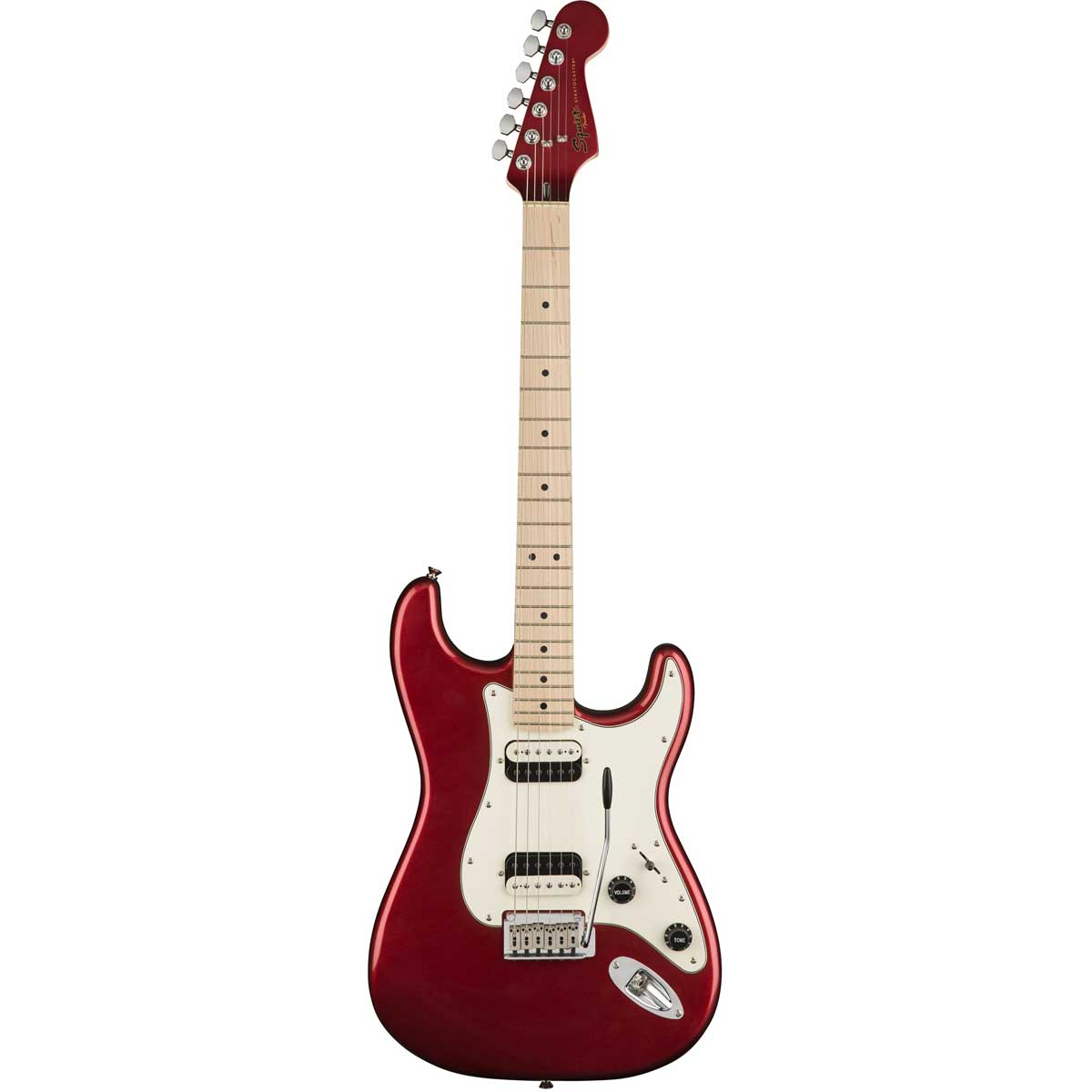 Image of   Fender Squier Contemporary Stratocaster HH, MN, DMR el-guitar dark metallic red