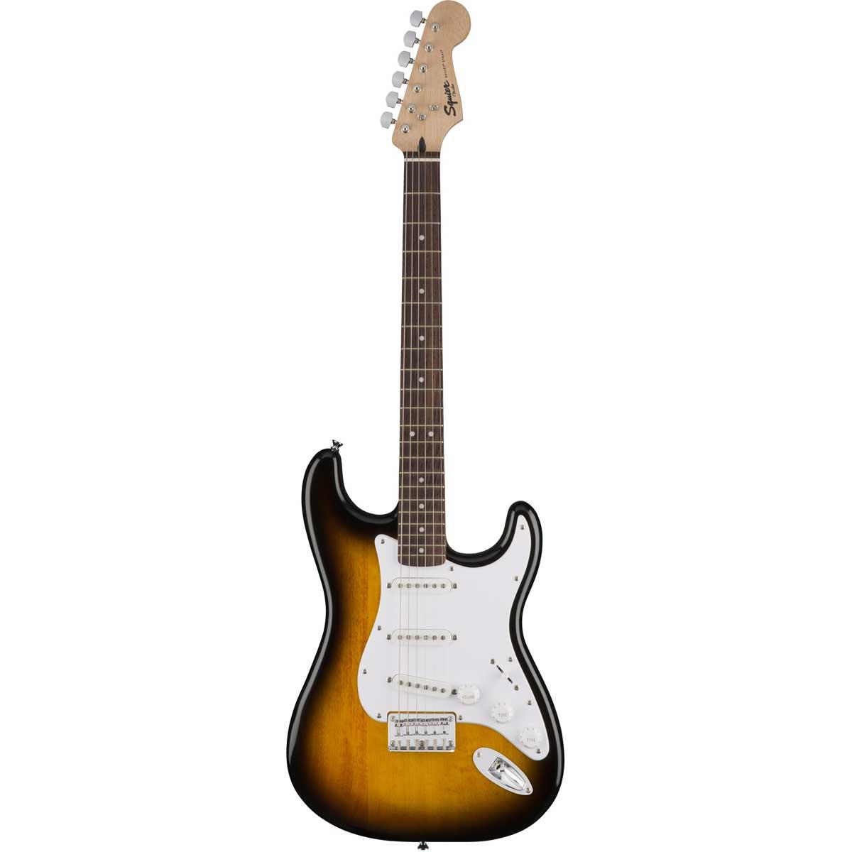 Fender Squier Bullet Strat HT, BSB el-guitar brun sunburst