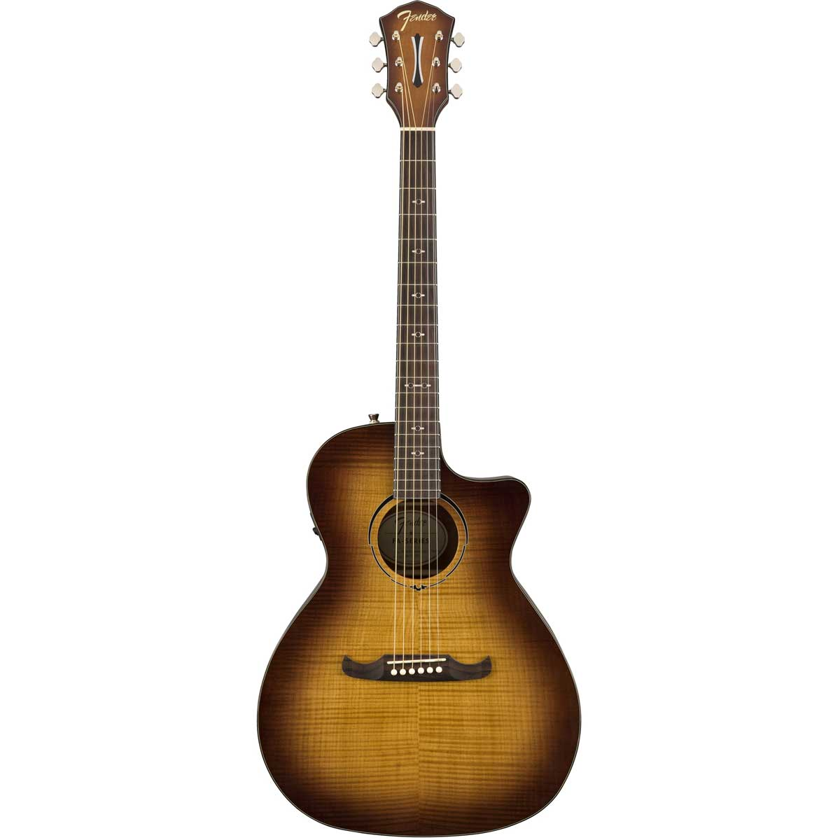 Fender FA-345CE Auditorium western-guitar 3-tone tea burst