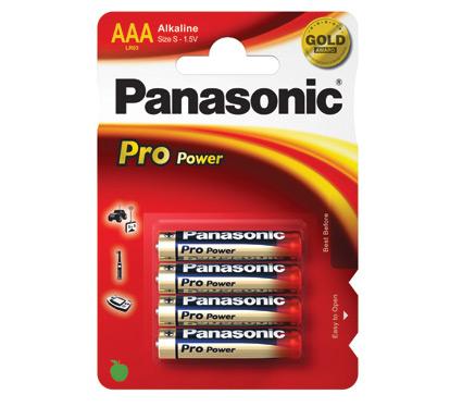 Panasonic ProPowerAlkalineAAA batterier(4stk.)