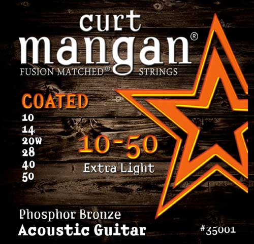 Image of   CurtMangan 35001CoatedPhosphorBronze western-guitarstrenge010-050