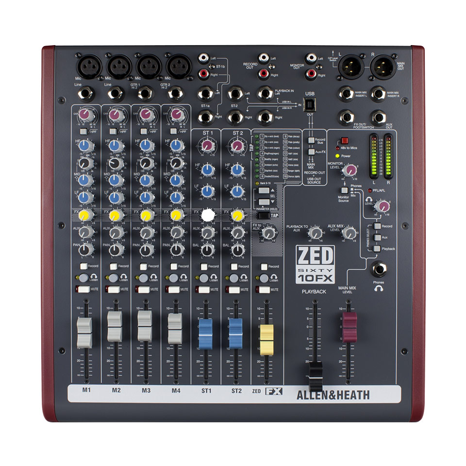 Image of   Allen&Heath ZED60-10FX mixer