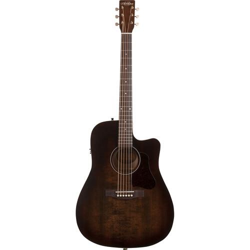 Image of   A&L Americana CW Q1T western-guitar bourbon burst
