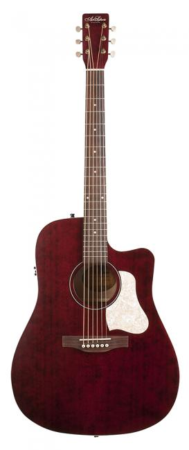 Image of   A&L Americana CW Q1T western-guitar tennessee red