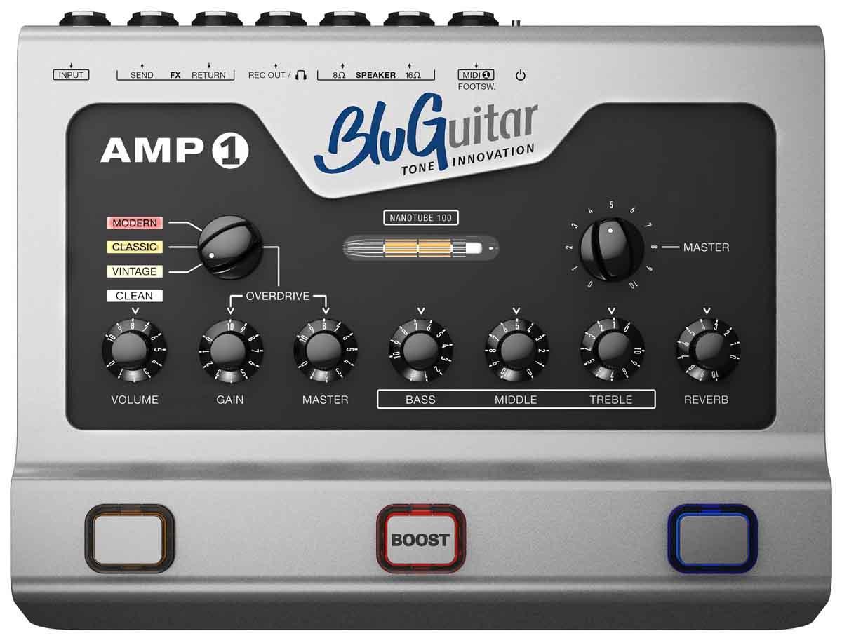 Image of   BluGuitar AMP1 Mercury Edition guitar-forstærker-top