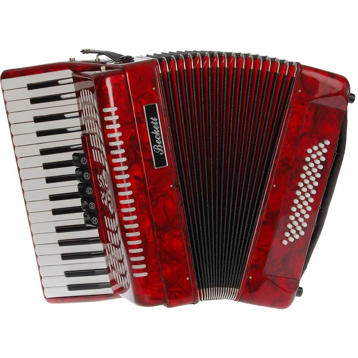 Beckett JH2005 piano-harmonika rød