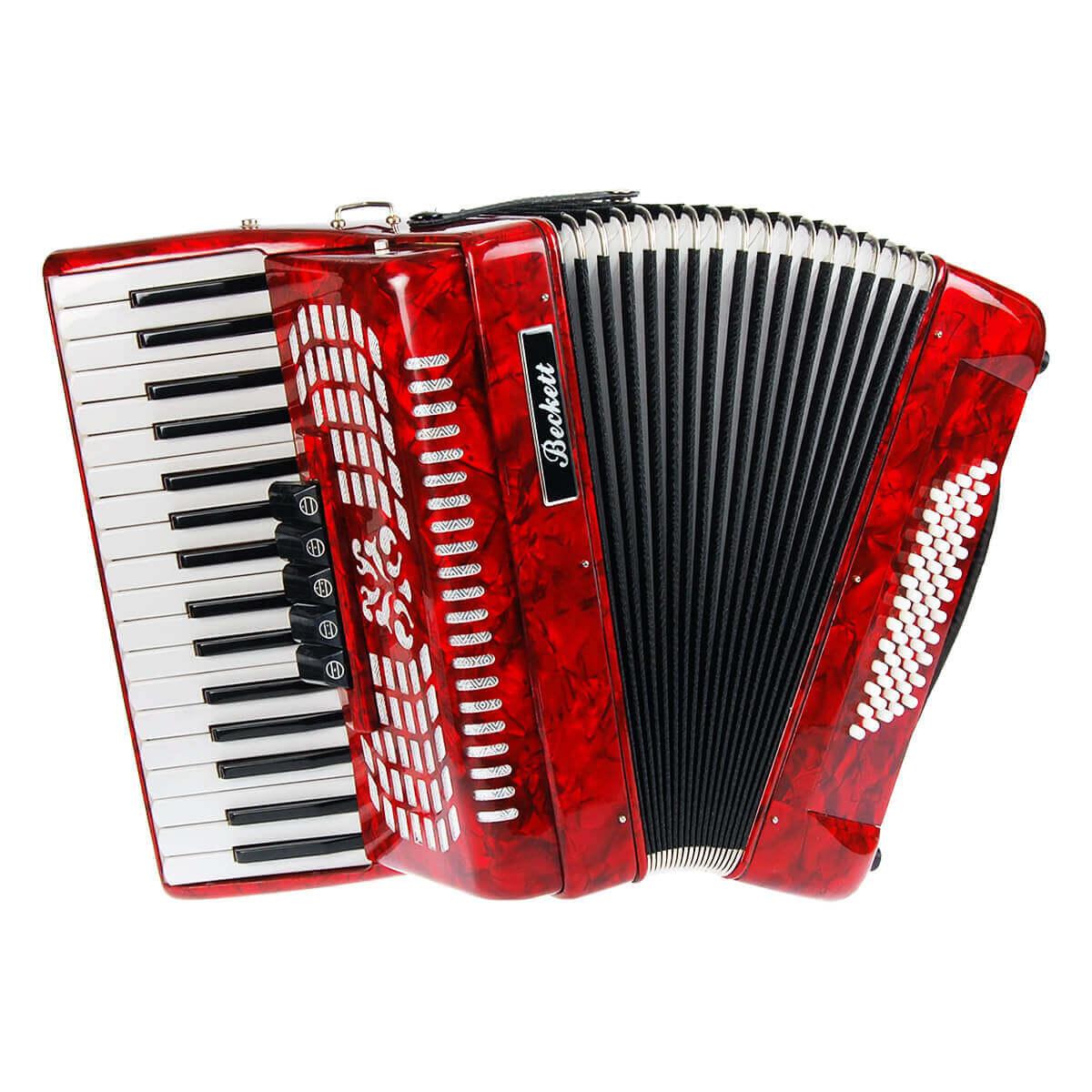 Beckett JH2011 piano-harmonika rød