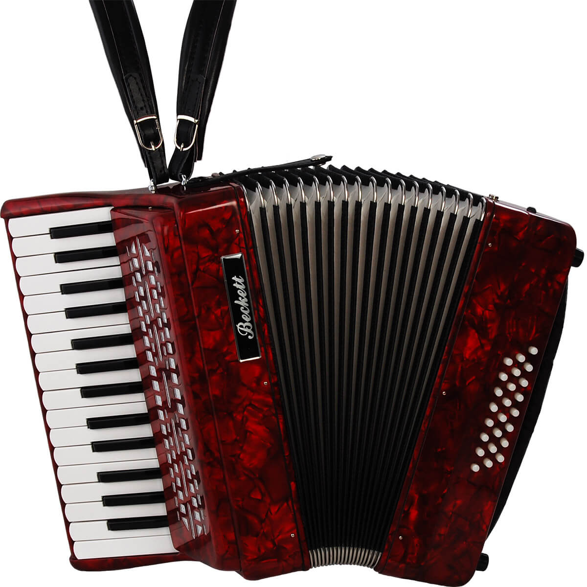 Beckett JH2024 piano-harmonika rød