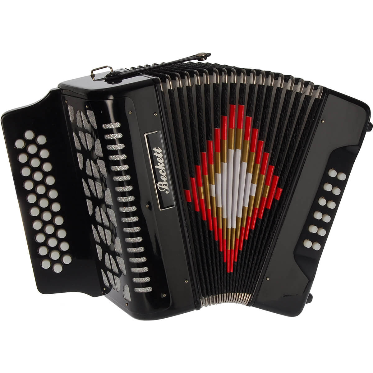 Beckett JH3112 knap-harmonika sort