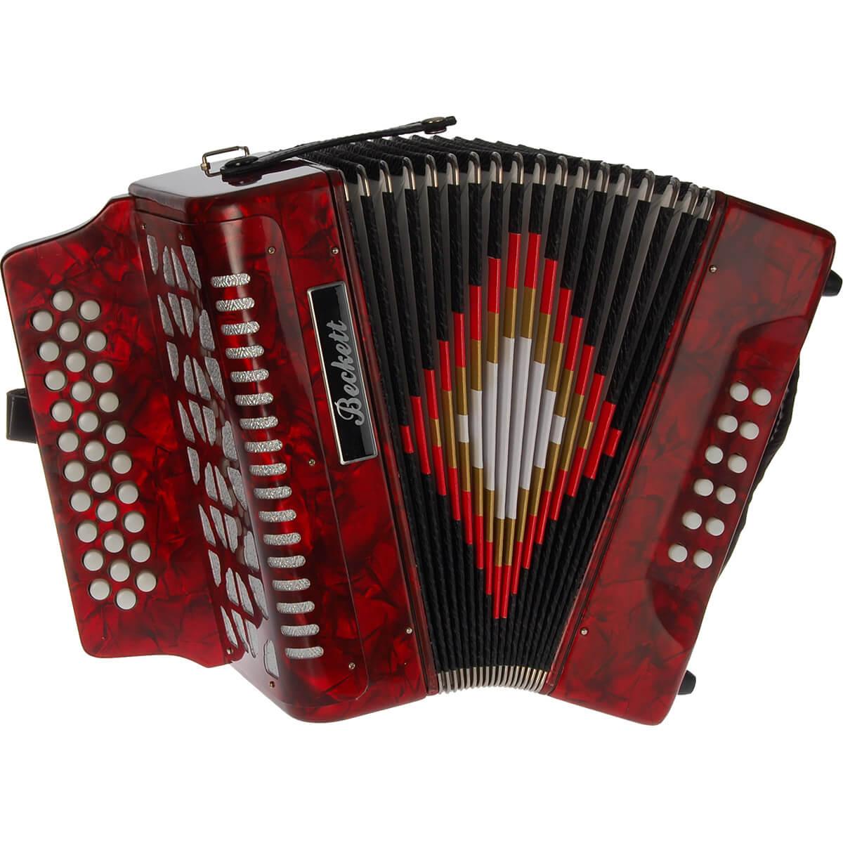 Beckett JH3112 knap-harmonika rød