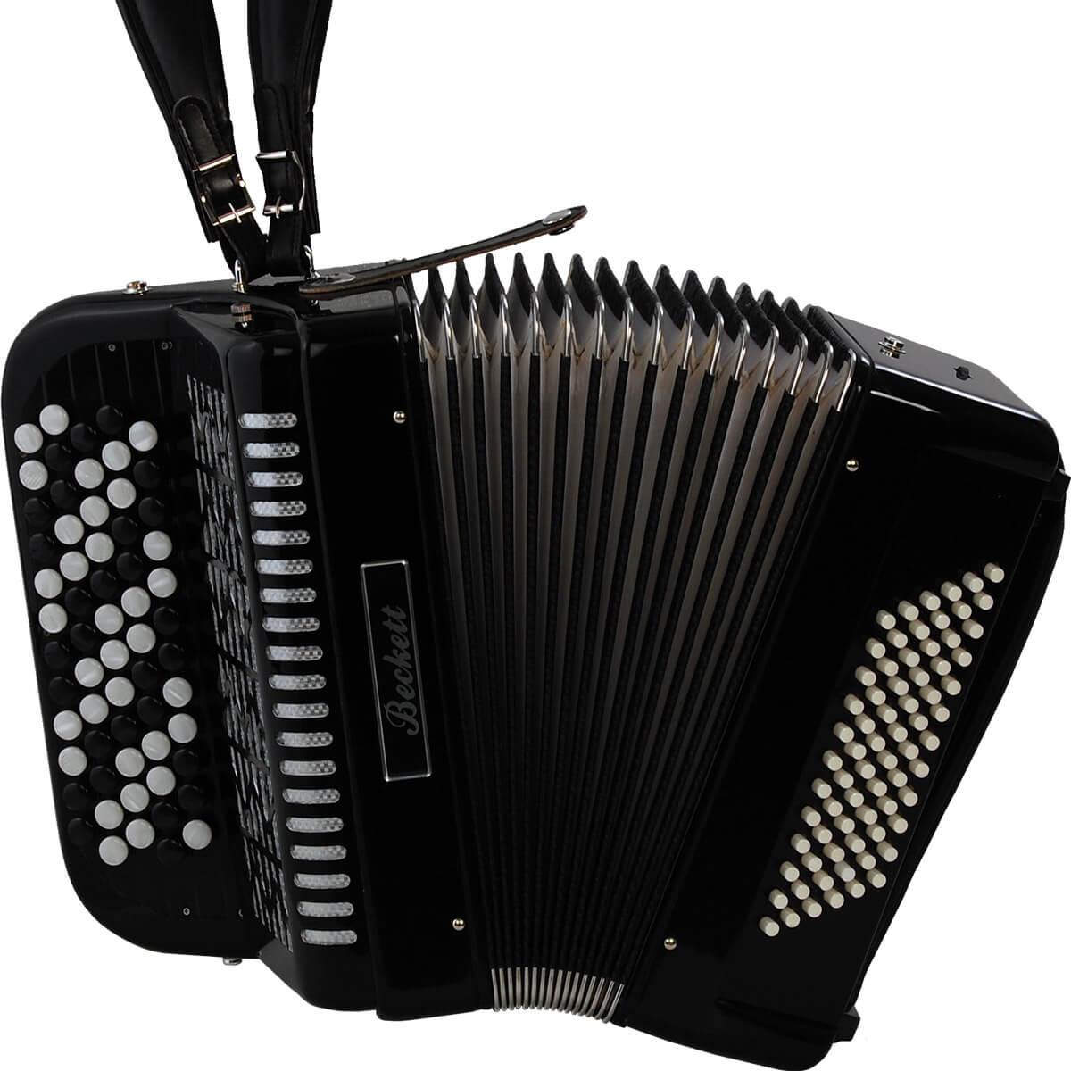 Beckett JH5072 knap-harmonika sort