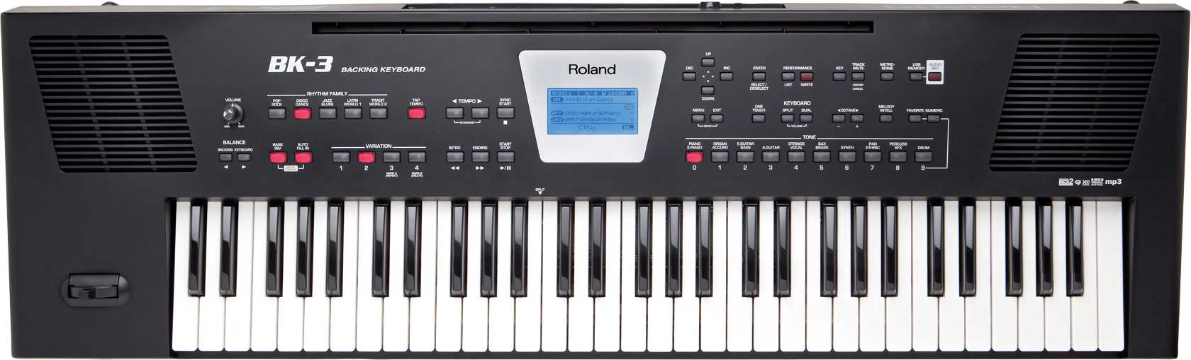 Image of   Roland BK-3 BK keyboard