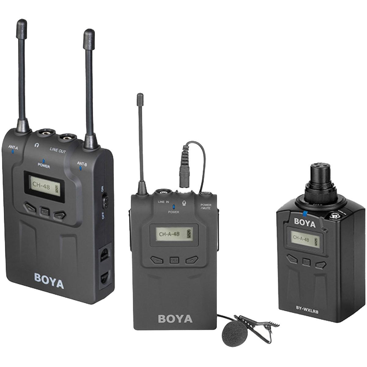 Billede af Boya BY-WM8-K6 trådløstsætmedklemme-mikrofonogXLR-sender