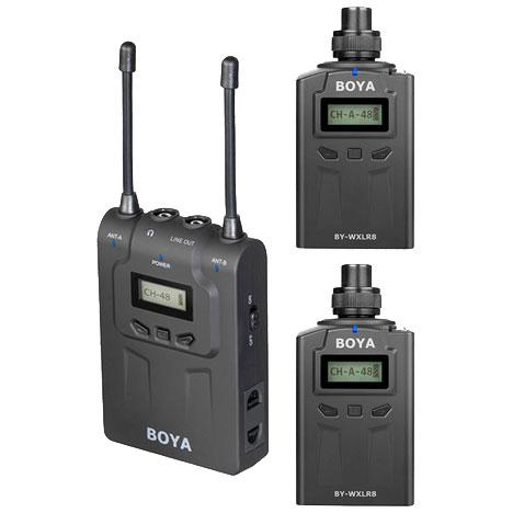 Boya BY-WM8-K8 trådløstsætmed2xXLR-sender