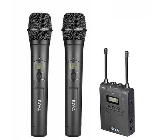 Boya BY-WM8-K7 trådløstsætmed2xhåndholdtmikrofon
