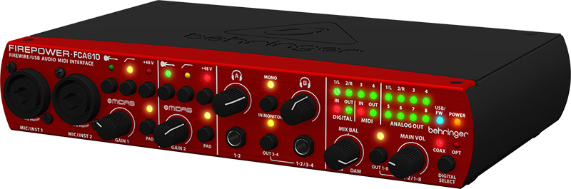 Behringer FCA610 audiointerface