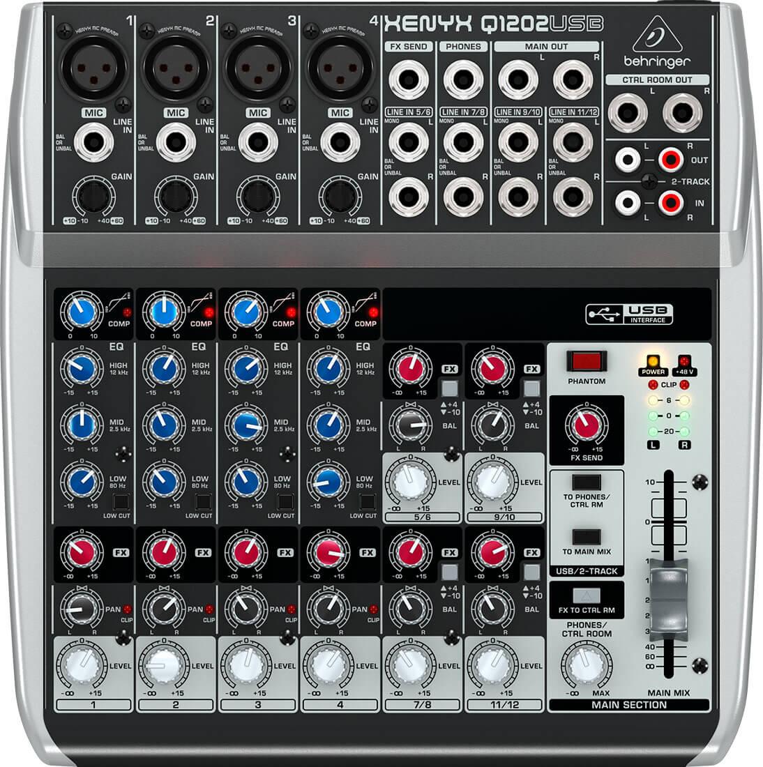 Behringer XenyxQ1202USB mixer
