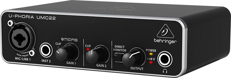 Behringer UMC22U-Phoria audiointerface
