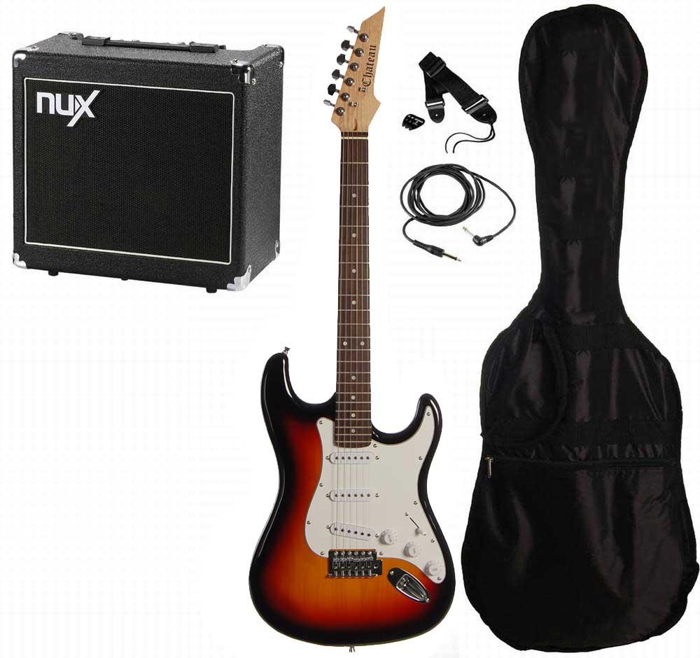 Chateau C08-ST1 el-guitar, sunburst, PAKKE 3