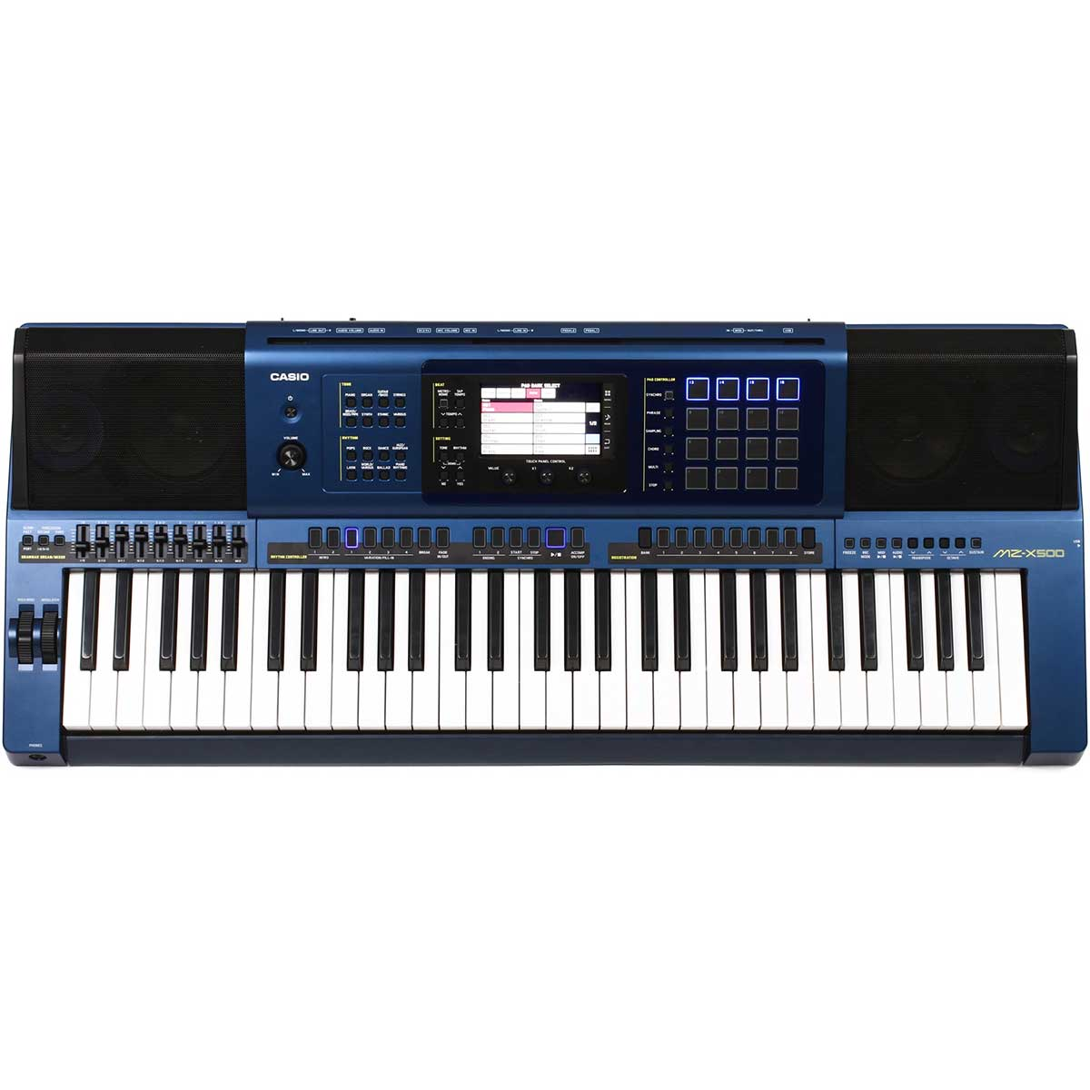Casio MZ-X500 keyboard metallicblue