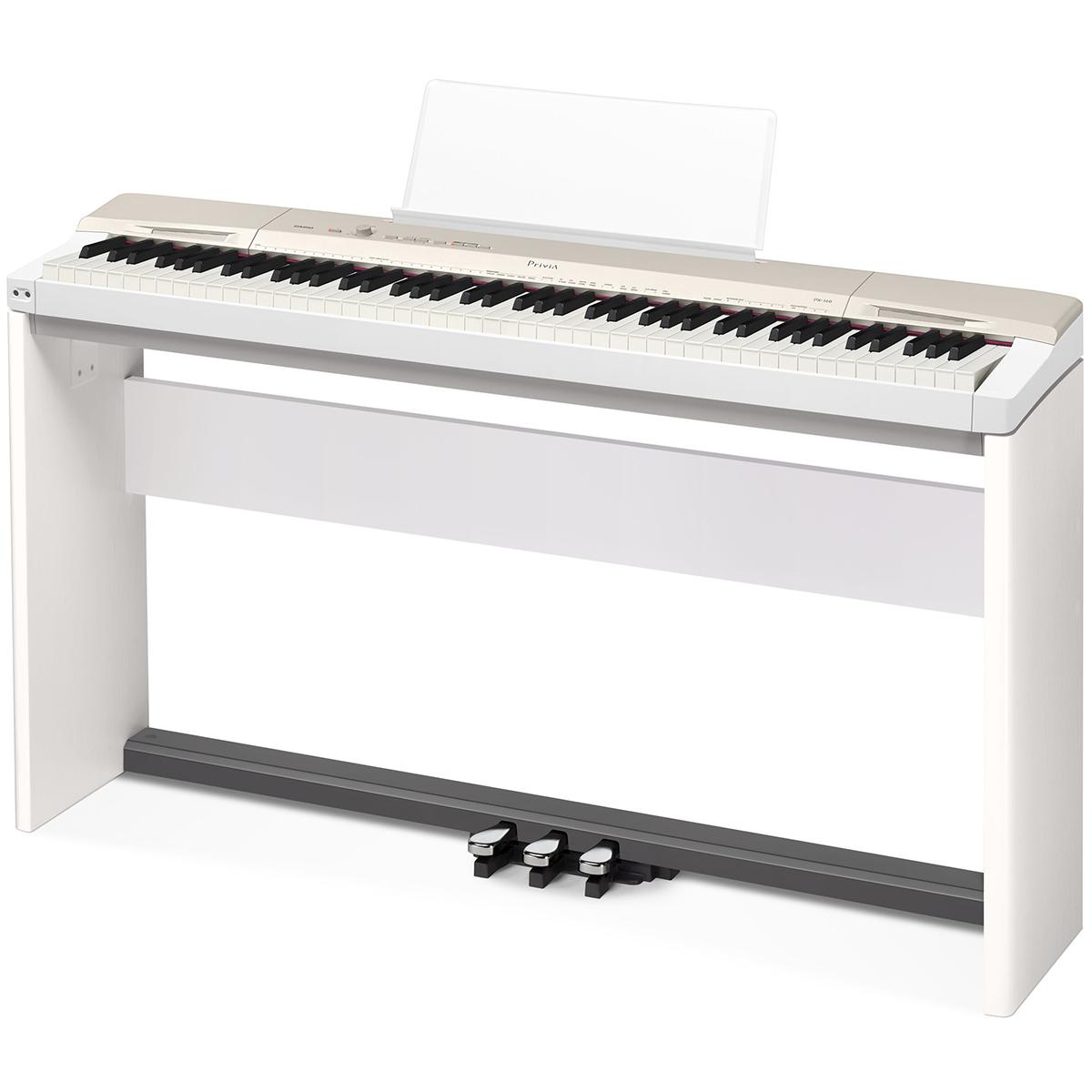 Billede af Casio PX-160-WE el-klaver med CS-67-WE ben & SP-33
