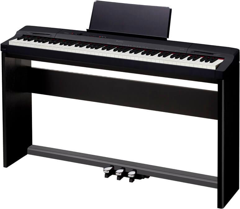Casio PX-160-BK el-klaver med CS-67-BK ben og SP-33 pedaler