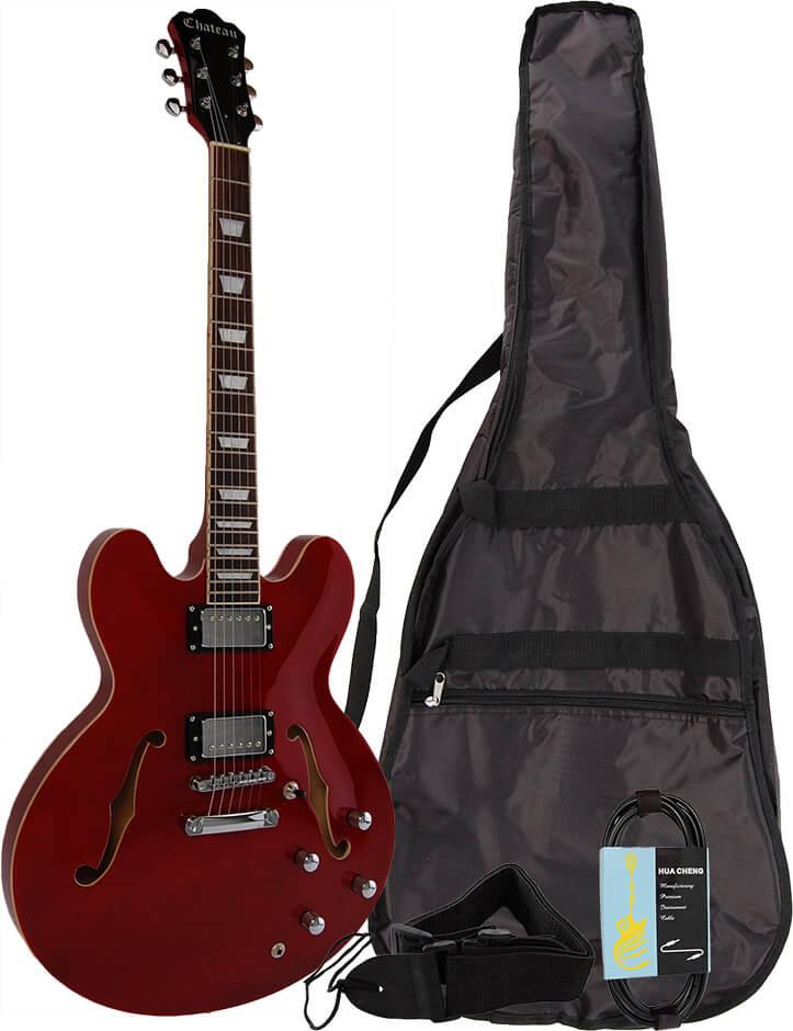 Image of   Chateau C08-JG1-WR el-guitar rød