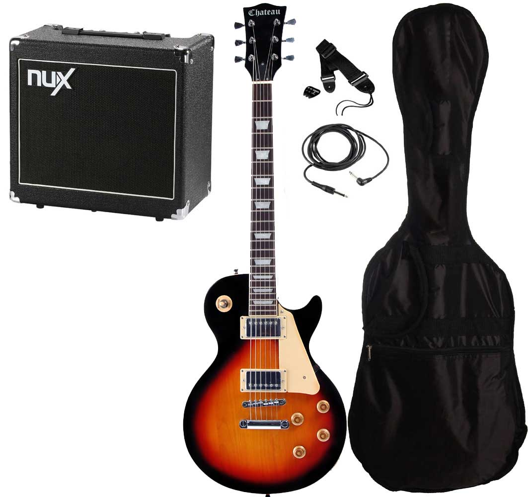 Chateau C08-LP2 el-guitar, sunburst, PAKKE 3