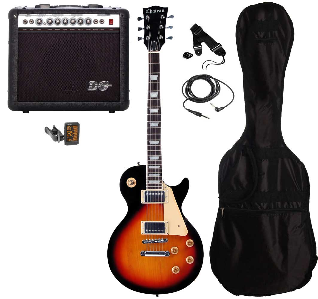 Chateau C08-LP2 el-guitar, sunburst, PAKKE 2