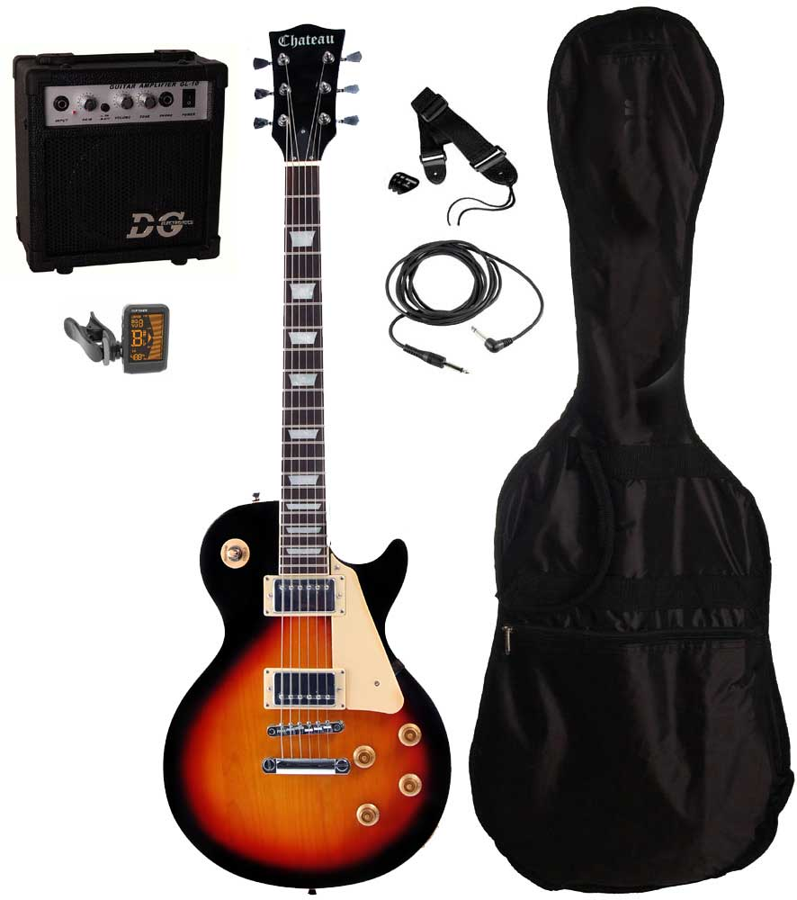 Chateau C08-LP2 el-guitar, sunburst, PAKKE 1