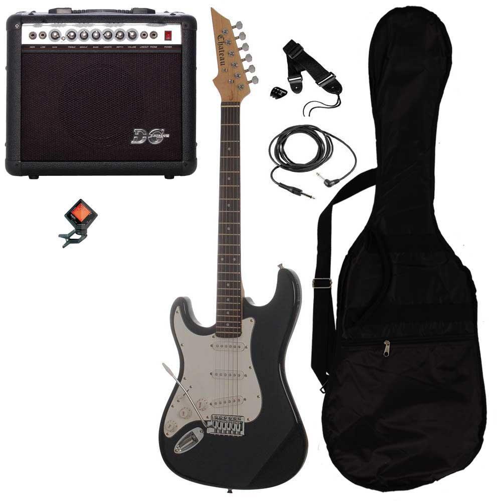 Billede af Chateau C08-ST1 venstrehånds el-guitar sort PAKKE 2
