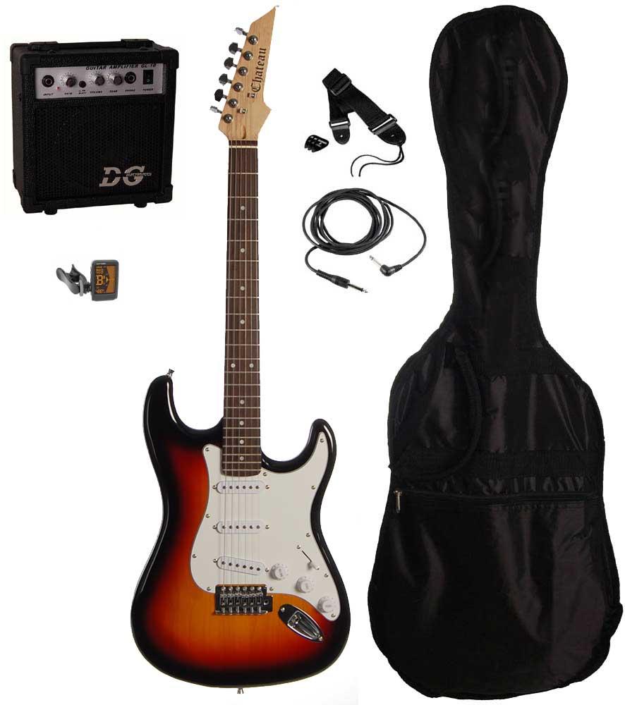 Chateau C08-ST1 el-guitar, sunburst, PAKKE 1