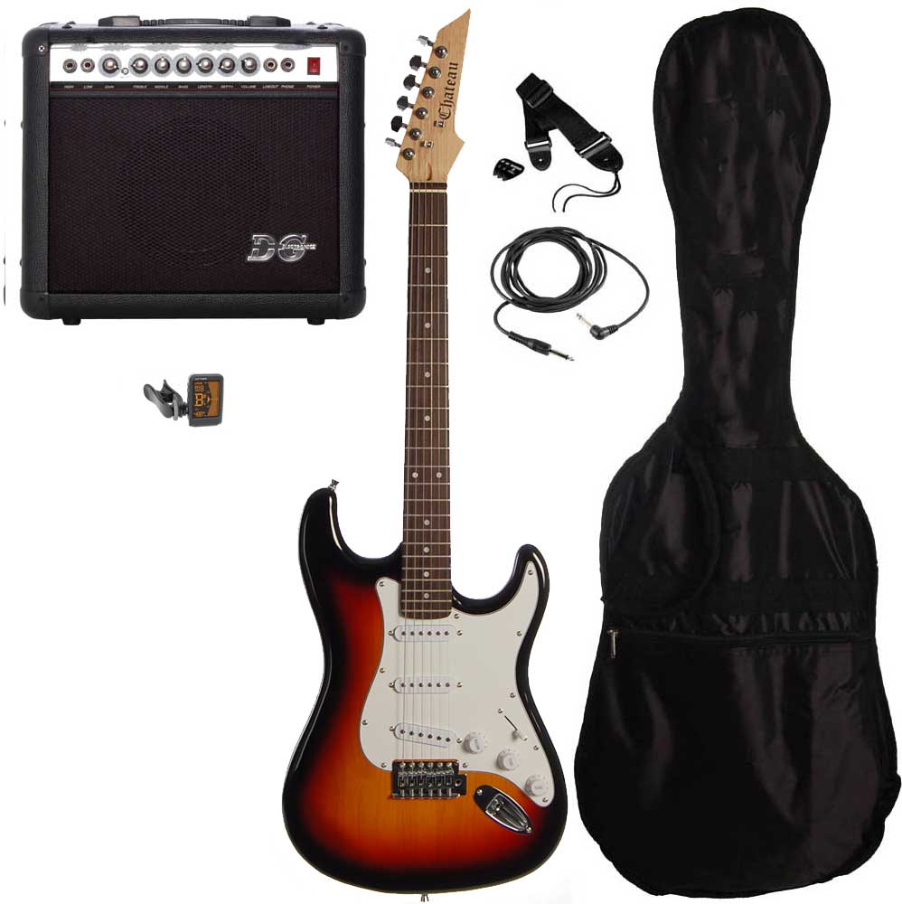 Chateau C08-ST1 el-guitar, sunburst, PAKKE 2