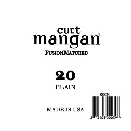 Image of   Curt Mangan 00020 løsplain-steelguitarstreng.020
