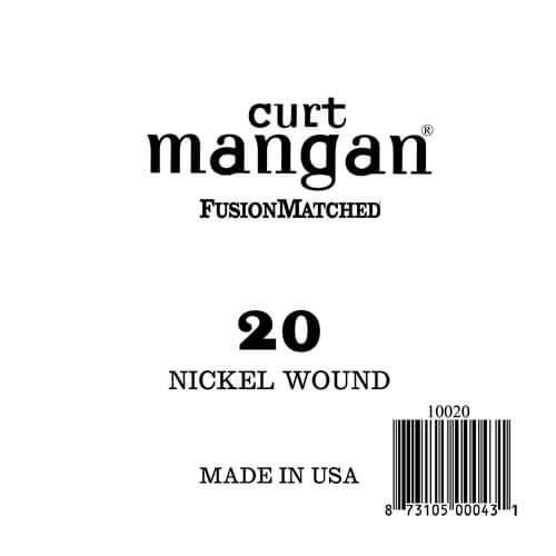 Image of   Curt Mangan 10020 løsnikkelel-guitarstreng.020