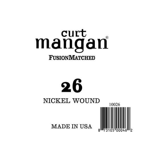 Image of   Curt Mangan 10026 løsnikkelel-guitarstreng.026