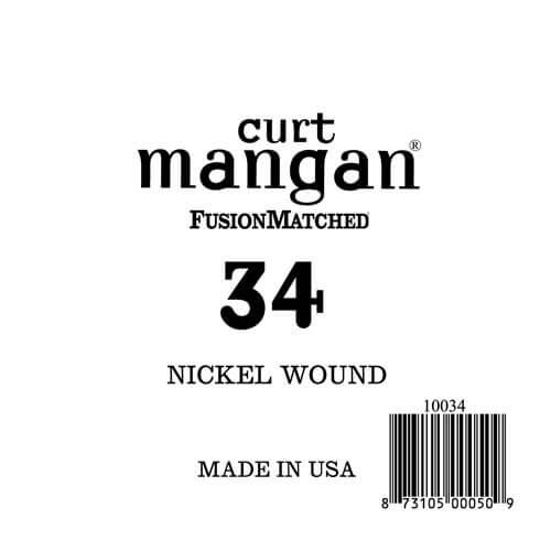 Image of   Curt Mangan 10034 løsnikkelel-guitarstreng.034