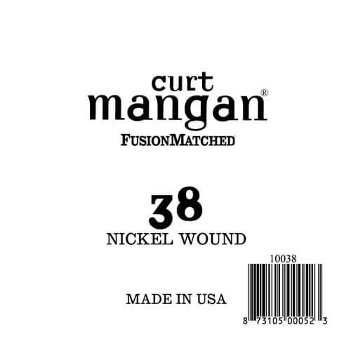 Image of   Curt Mangan 10038 løsnikkelel-guitarstreng.038