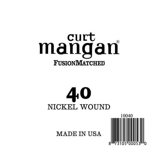 Image of   Curt Mangan 10040 løsnikkelel-guitarstreng.040