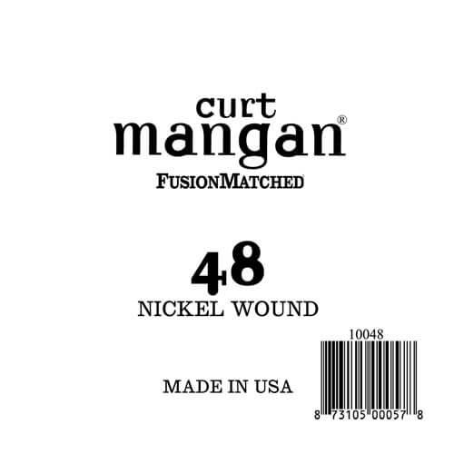 Image of   Curt Mangan 10048 løsnikkelel-guitarstreng.048