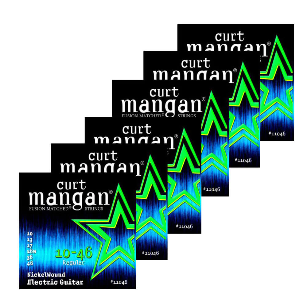Image of   Curt Mangan 11046 Nickel Wound el-guitarstrenge 010-046, 6-pack