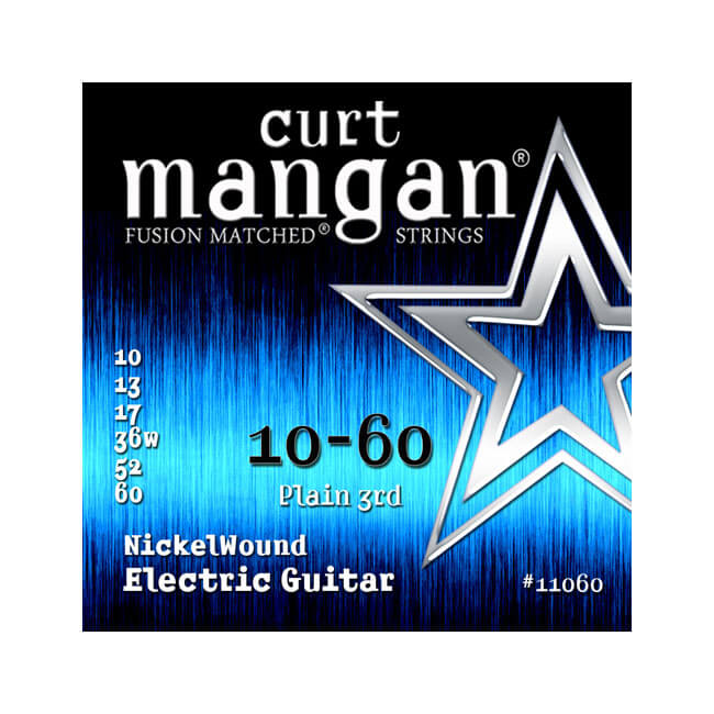 Image of   Curt Mangan 11060NickelWound el-guitarstrenge010-060