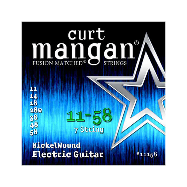 Image of   Curt Mangan 11158NickelWound 7-strengetel-guitarstrenge011-058