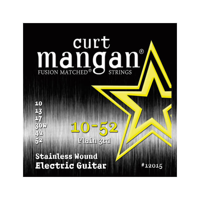 Image of   CurtMangan 12015StainlessWound el-guitarstrenge010-052