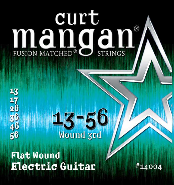 Image of   Curt Mangan 14004 Flatwound el-guitarstrenge 013-056