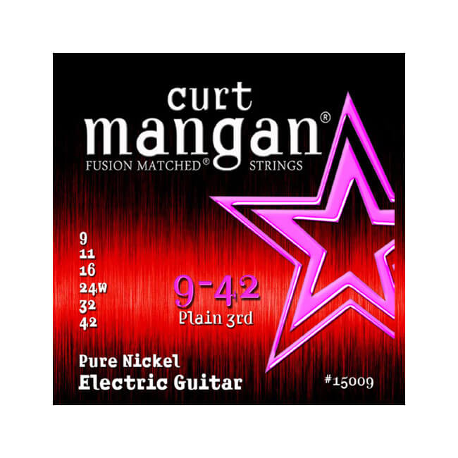 Image of   Curt Mangan 15009PureNickel el-guitarstrenge009-042